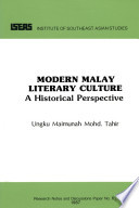 Modern Malay Literary Culture