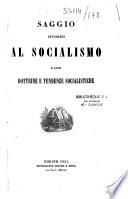 Saggio intorno al socialismo e alle dottrine e tendenze socialistiche