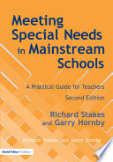 Meeting Special Needs in Mainstream Schools