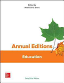 Annual Editions  Education  43 e
