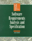 Software Requirements Analysis and Specifications