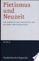 Pietismus und Neuzeit Band 31 - 2005