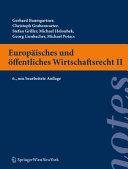 Europäisches und öffentliches Wirtschaftsrecht II