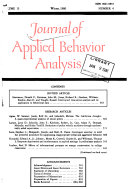 Journal of Applied Behavior Analysis