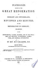 D'Aubigné's History of the Great Reformation in Germany and Switzerland