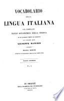 Vocabolario della lingua Italiana  D L