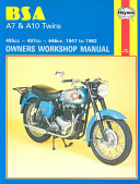 BSA A7 and A10 Twins Owners Workshop Manual  No  121