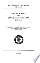 Bibliography Of Fossil Vertebrates