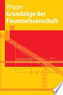 Grundz  ge der Finanzwissenschaft