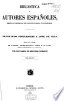 Dramáticos posteriores a Lope de Vega