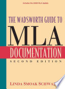The Wadsworth Guide To Mla Documentation Mla Update
