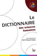 Dictionnaire des sciences humaines  2008