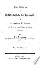Darstellung der Rechtsverhältnisse der Bauerngüter im Herzogthum Westphalen
