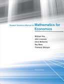 Mathematics For Economics : problems in the main text....