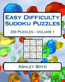 Easy Difficulty Sudoku Puzzles Volume 1