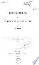 Judentaufen in Oesterreich