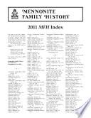 Mennonite Family History Annual Index  2011