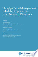 Supply Chain Management  Models  Applications  and Research Directions