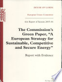 The Commission s Green Paper   A European Strategy for Sustainable  Competitive and Secure Energy