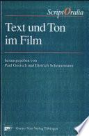 Text und Ton im Film.