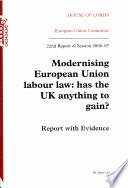 Modernising European Union Labour Law