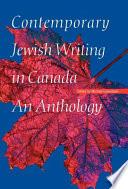 Contemporary Jewish Writing in Canada