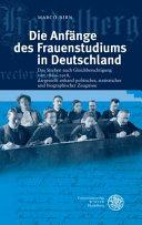 Die Anf  nge des Frauenstudiums in Deutschland