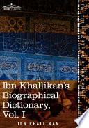 Ibn Khallikan's Biographical Dictionary