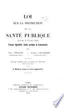 Loi sur la protection de la sante publique  loi du 15 fe vrier 1902