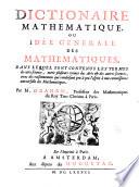 Dictionaire mathematique