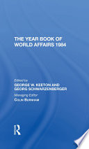 The Year Book Of World Affairs 1984 Book PDF