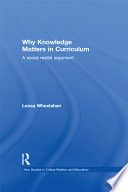Why Knowledge Matters in Curriculum