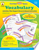 Vocabulary  Grades 1   2