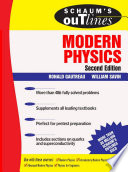 Schaum s Outline of Modern Physics