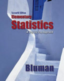 Bluman  Elementary Statistics  A Step by Step Approach     2009  7e  Student Edition  Reinforced Binding  with Formula Card