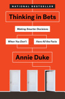 Thinking in Bets Book Cover