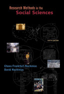 Research Methods in Social Sciences + General Social Survey 1996 Data Bank Cd-rom
