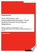 Neue Informations- und Kommunikationstechnologien - Social Media & Networks- Vernetzung auf Bürgerebene