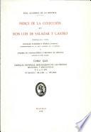 Índice de la colección de don Luis de Salazar y Castro. Tomo XXII.