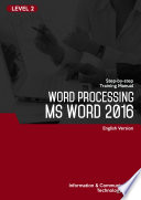 Word Processing MS Word 2016 Level 2