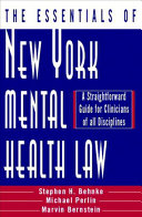 The Essentials of New York Mental Health Law