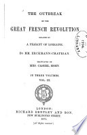 The Outbreak of the Great French Revolution Related by a Peasant of Lorraine