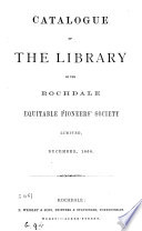 Catalogue of the Library of the Rochdale Equitable Pioneers  Society Limited Book PDF