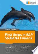 First Steps In Sap S 4hana Finance