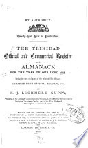 The Trinidad Official and Commercial Register and Almanack