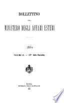 Bollettino del Ministero degli affari esteri