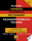 German Technical Dictionary