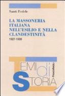 La massoneria italiana nell esilio e nella clandestinit