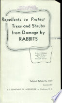 Repellents to protect trees and shrubs from damage by rabbits