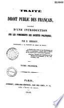 Trait Du Droit Public Des Fran Ais
